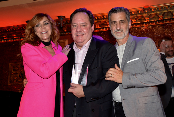 Andrea McArdle, James L. Nederlander and Bill Berloni