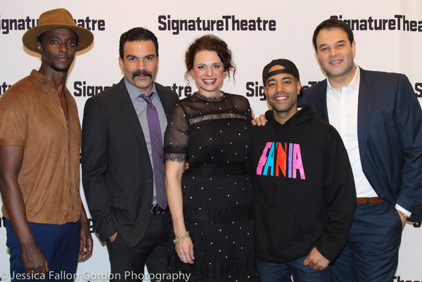 Photo Coverage: Signature Theatre Celebrates Opening Night of JESUS HOPPED THE A TRAIN