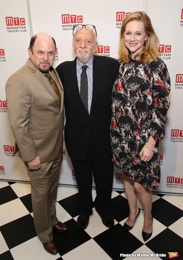 Jason Alexander, Hal Prince and Laura Linney
