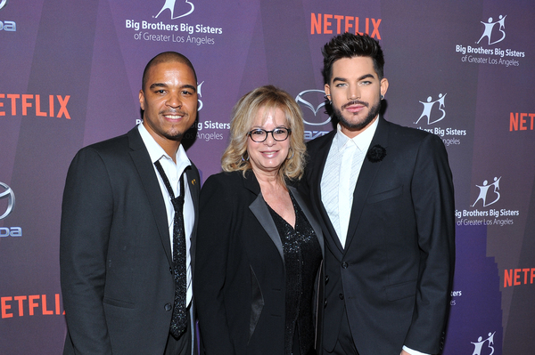 Laura Lizer and Adam Lambert