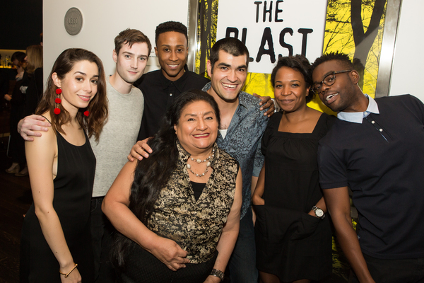 "The Cast of AFTER THE BLAST â€"" Cristin Milioti, Will Connolly, David Pegram, Teresa Yenque Ben Horner, Eboni Booth and William Jackson Harper"