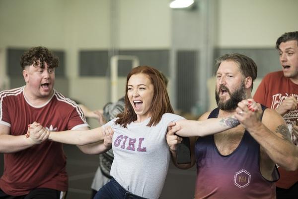 Photo Flash: Freddie Flintoff, Sam Bailey and Natasha Hamilton in Rehearsal for FAT FRIENDS THE MUSICAL