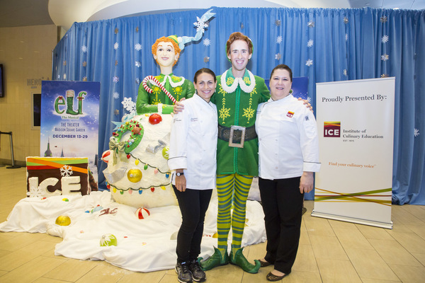Buddy the Elf from ELF THE MUSICAL unveils the largest Rice Krispies Treat in New York City at Madison Square Garden.
