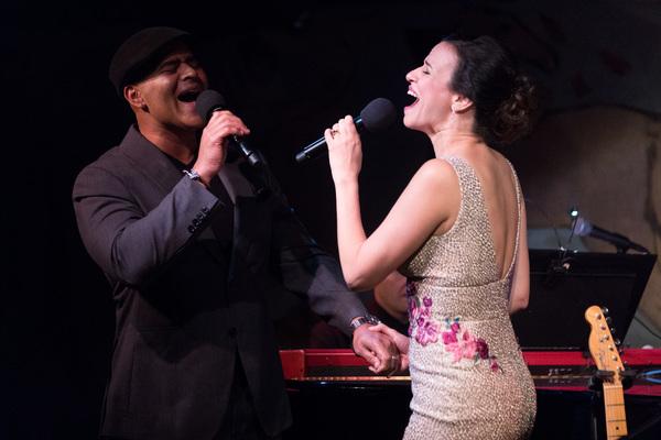 Christopher Jackson and Mandy Gonzalez