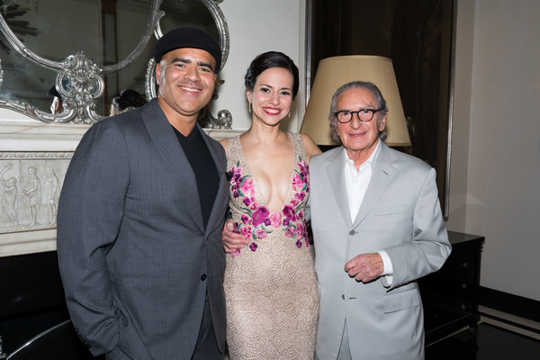 Mandy Gonzalez with Christopher Jackson and Sander Jacobs