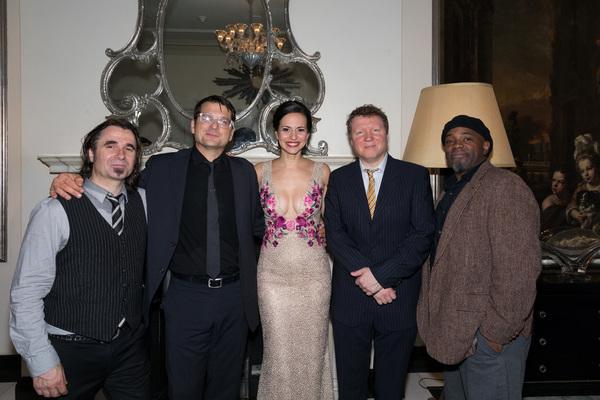 Mandy Gonzalez, John Deley, Matt Beck, Richard Hammond and Abe Fogle Photo
