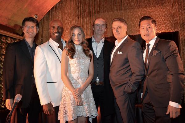 Marcus Cheong, Alan H. Green, Laura Osnes, Richard Fowler, Robert Cuccioli and Mark Kang