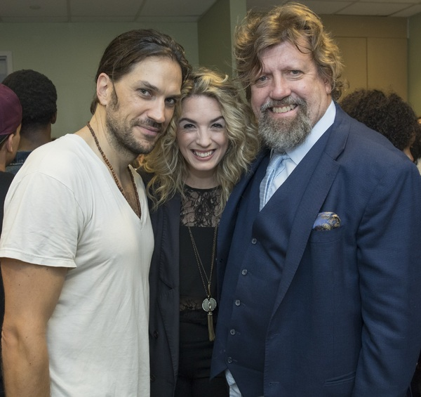 Will Swenson, Kacie Sheik, and Oskar Eustis