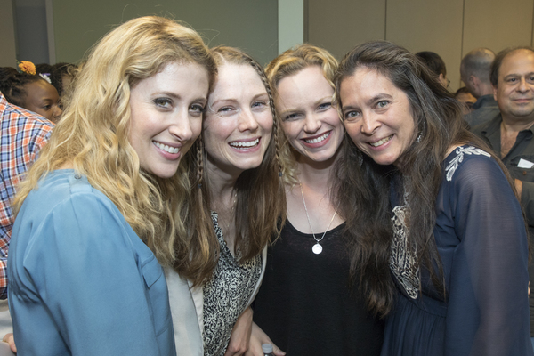 Caissie Levy, Allison Case, Megan Reinking, and  Diane Paulus