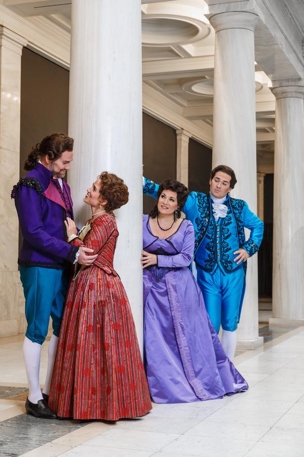 left to right: Figaro (Tyler Simpson), Susanna (Joélle Harvey), Countess Almaviva (Danielle Pastin), Count Almaviva (Christian Bowers)