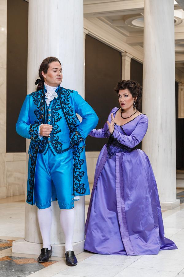 Count (Christian Bowers) and Countess Almaviva (Danielle Pastin)