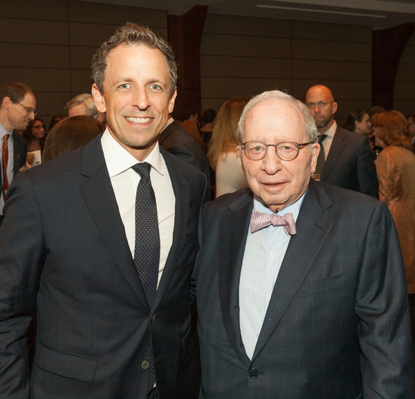 Seth Meyers and Willian D. Zabel Photo