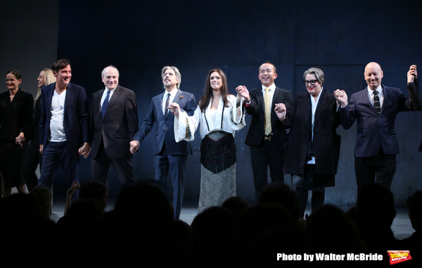 Clive Owen, Donald Holder, Elliot Goldenthal, Julie Taymor, David Henry Hwang, Ma Cong, Jin Ha, Constance Hoffman and Paul Steinberg with the cast