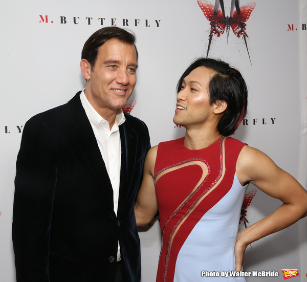 Clive Owen and Jin Ha