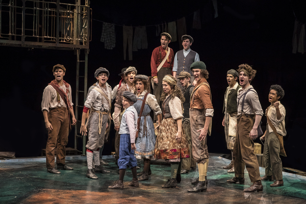 The cast of NEWSIES at The Marriott Theatre