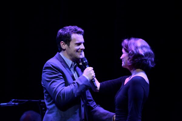 Jonathan Groff and Melissa Gilbert