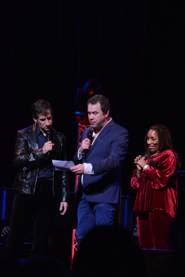 Seth Rudetsky, James Wesley and Stephanie Mills