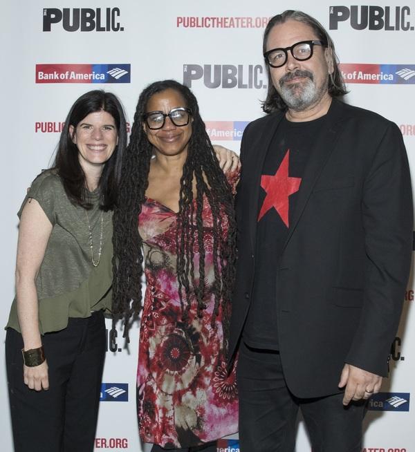 Mandy Hackett, Suzan-Lori Parks and Christian Konopka