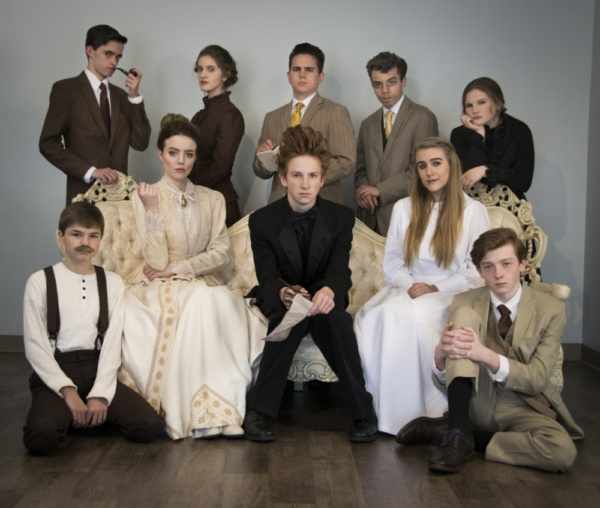 Back row: Brayden Soffa, Ella Warner, Andy Stratton, Ben McElroy, Alexa Stratton Front row: Calin Eastes, Mackenzie Kern, Connor McMurray, Hannah Winkler, Harrison Polen The Seagull, by Anton Chekhov in a new version ?by Christopher Hampton, direct