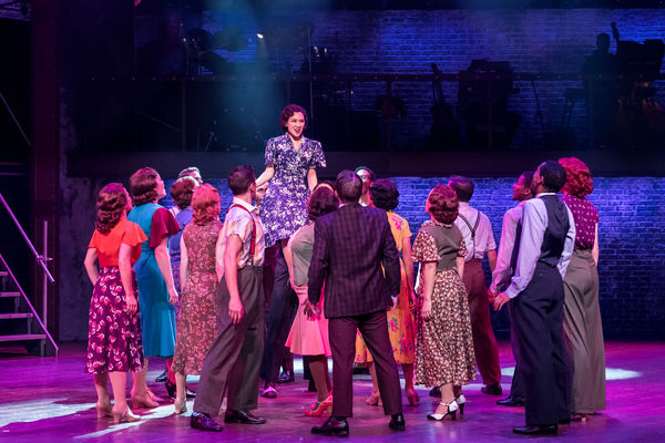 Kimberly Immanuel (center) and the cast of 42ND STREET at Drury Lane Theatre. Photo Credit: Brett Beiner
