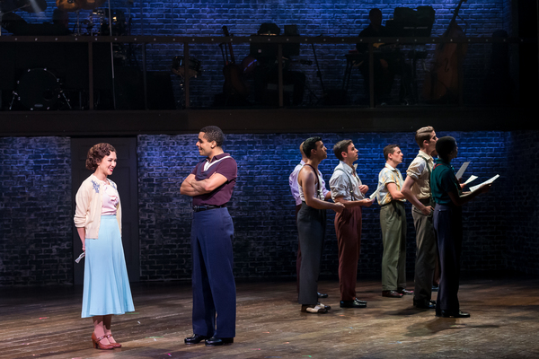 Kimberly Immanuel, Phillip Attmore and the cast of 42ND STREET at Drury Lane Theatre. Photo Credit: Brett Beiner
