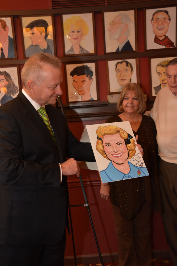 Photo Coverage: Showbiz Legend Miss Rose Marie Gets Caricature at Sardi's