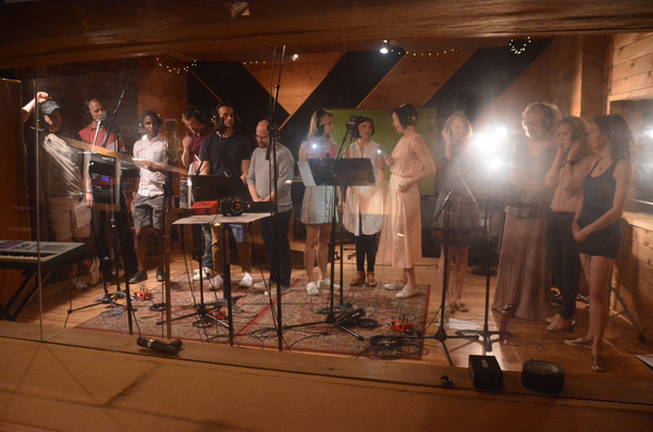 Exclusive Photo Coverage: ANASTASIA Takes a Journey to the Studio to Record CAROLS FOR A CURE