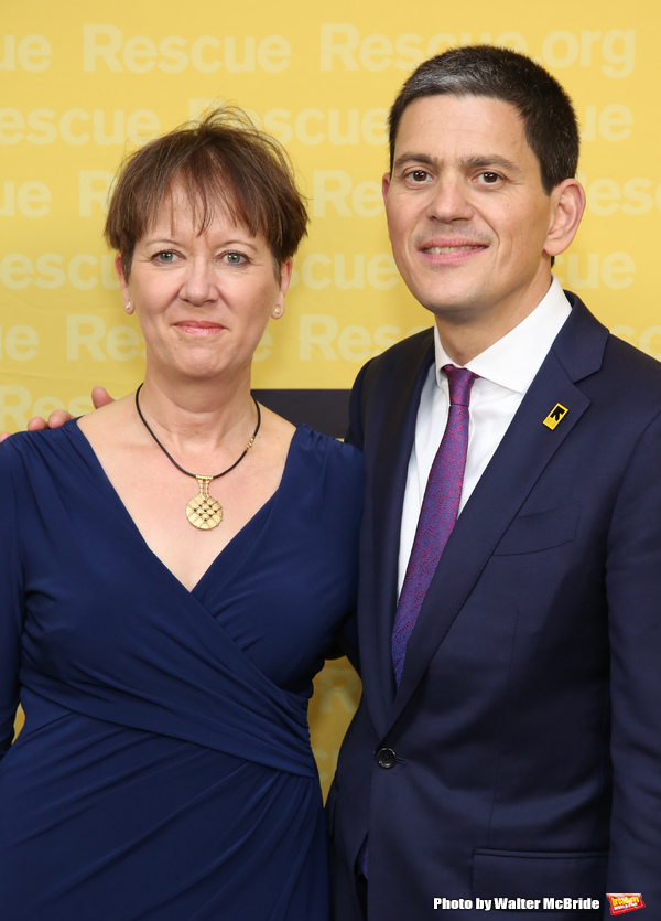 Louise Shackelton and David Miliband