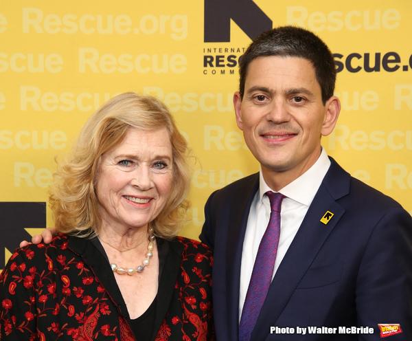 Liv Ullman and David Miliband