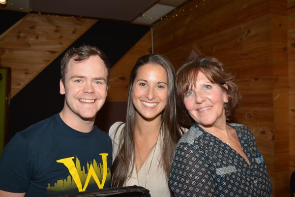 Elliott Mattox, Robin Masella and Madeline Doherty