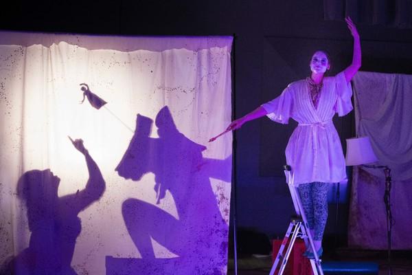 Rose Hegele (M.M. '18) as Venus, Aliana de la Guardia as Queen Fadladinida and  Photo