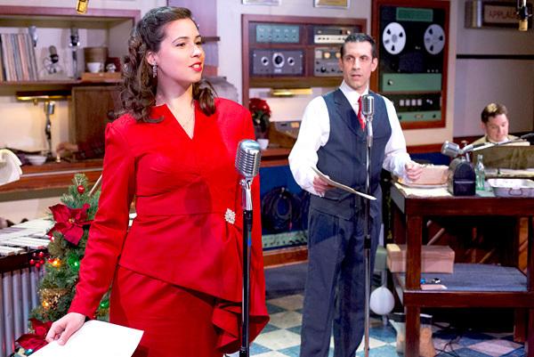 Tabitha Allen, Damon Bonetti and Josh Totora in IT'S A WONDERFUL LIFE: A LIVE RADIO P Photo