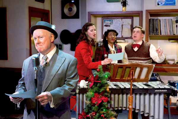 Michael P. Toner, Tabitha Allen, Jessica Johnson and Josh Totora in IT'S A WONDERFUL LIFE: A LIVE RADIO PLAY