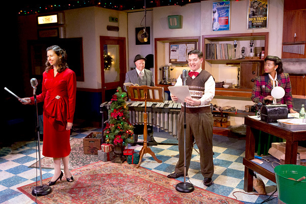 Tabitha Allen, Michael P. Toner, Josh Totora and Jessica Johnson in IT'S A WONDERFUL LIFE: A LIVE RADIO PLAY