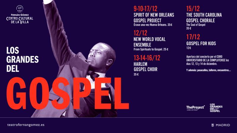 LOS GRANDES DEL GOSPEL traerán su alegría y espiritualidad a Madrid
