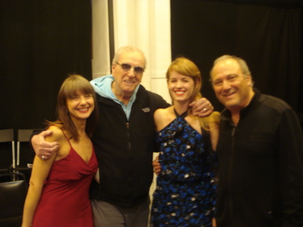 Maja Wampuscyz, Danny Aiello, Christy Escobar and playwright Richard Vetere