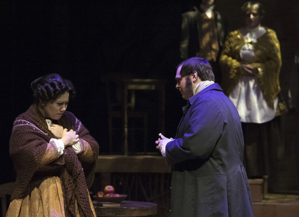 Lauren Marshall and Daniel Black in SLEEPY HOLLOW at Cumberland County Playhouse