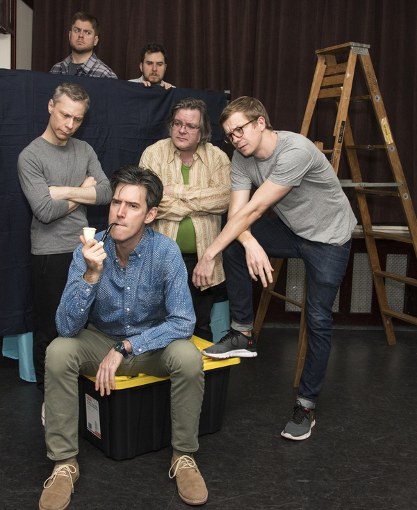 Director B.H. Barry and company in rehearsal for his newest show, The Enlightenment of Mr. Mole
