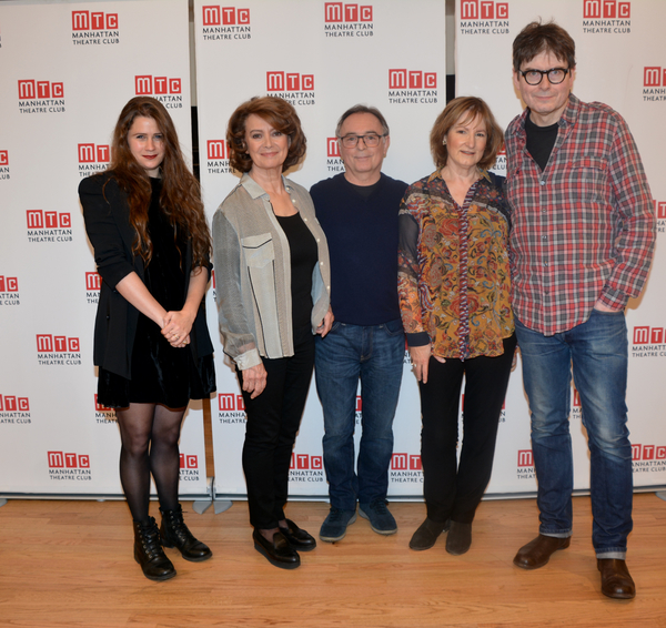 Lucy Kirkwood, Francesca Annis, Ron Cook, Deborah Findlay and James McDonald Photo
