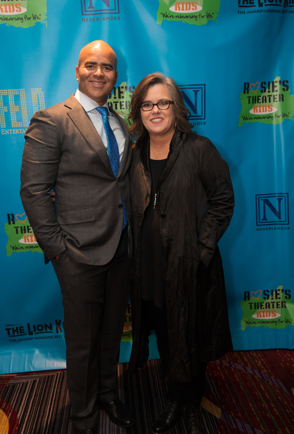 Christopher Jackson and Rosie O'Donnell
