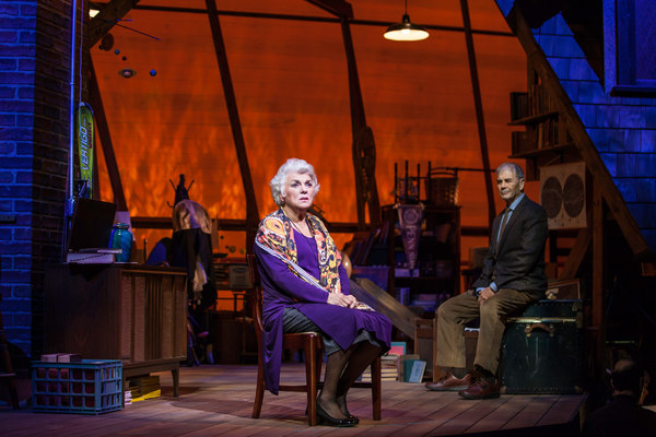 Tyne Daly stars in the world premiere of Chasing Mem'ries: A Different Kind of Musical at the Geffen Playhouse. Photo by Chris Whitaker.