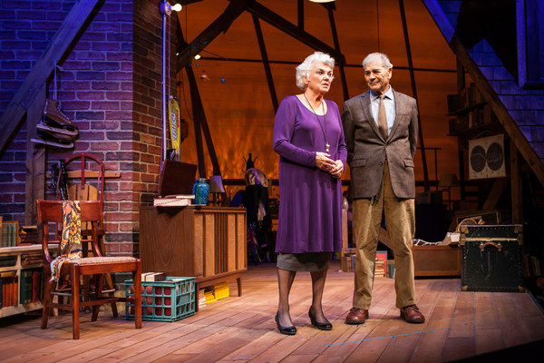 Tyne Daly and Robert Forster star in the world premiere of Chasing Mem'ries: A Different Kind of Musical at the Geffen Playhouse. Photo by Chris Whitaker.