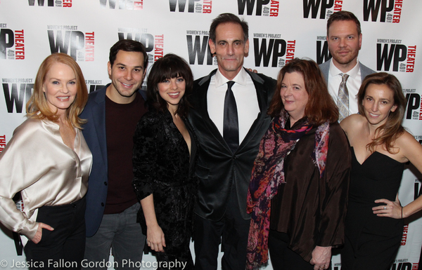 Marg Helgenberger, Skylar Astin, Krysta Rodriguez, Damian Young, Theresa Rebeck, Jim Parrack, and Adrienne Campbell-Holt