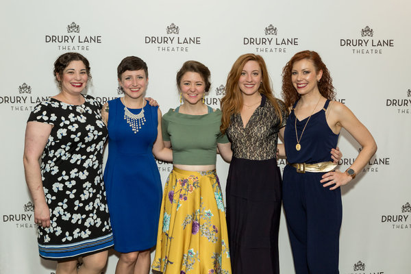 Kate Collins, Andrea Berting, Amber Wuttke, Lindsay Loretta Prerost and Head Usher Erin Dameron