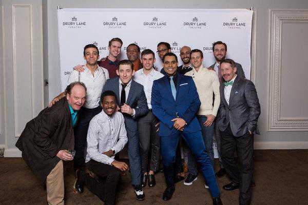 The Men of 42ND STREET: Anthony Sullivan Jr (Ensemble), Joel Chambers (Swing), Cedric Young (Abner), Thomas Ortiz (Ensemble), Davon Suttles (Ensemble), Time Brickey (Ensemble), Tristan Bruns (Ensemble), Brandon Springman (Pat), Bret Tuomi (Mac), Lamont