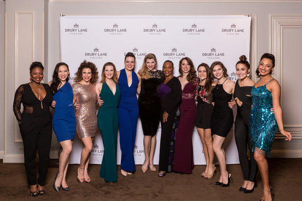 The Women of 42ND STREET: Donica Lynn (Maggie), Kimberly Immanuel (Peggy Sawyer), Andrea Collier (Ensemble), Annie Joe Ermel (Phyllis), Sierra Schnack (Anytime Annie),  Erica Evans (Andy Lee), Suzzanne Douglas (Dorothy Brock), Mandy Modic (Lorraine), Gab