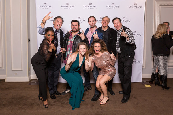 Members of the 42ND STREET cast reunite with their ROCK OF AGES castmates: Donica Lynn (Maggie in 42nd St, Mother Justice in Rock of Ages), Gene Weygandt (Julian Marsh in 42nd Street and Dennis in Rock of Ages), Nick Druzbanski (Lonny in Rock of Ages), Ad
