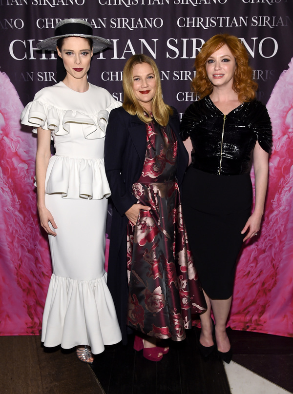 Coco Rocha, Drew Barrymore, and Christina Hendricks