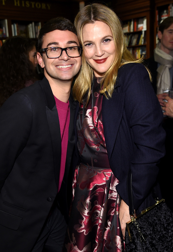 Drew Barrymore and Christian Siriano