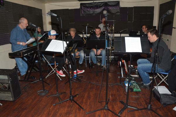 "The Band-Henry Aronson (Music Director/ Key 1), Steve ""Hoops"" Snyder (Key 2), Maximilian Sangerman (Trumpet), Jay Leslie (Sax, Reeds, Flute), Joseph Snyder (Trombone), Donnie Kehr (Drums), Gary Bristol (Bass), Jonathan Linden (Guitar 2) and Nate Brown (Gu"